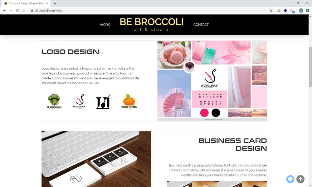 Be Broccoli Art & Studio Desktop View