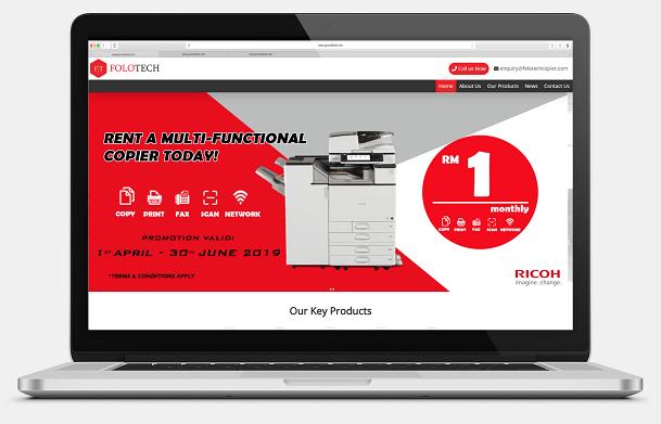 Folo Tech Sdn. Bhd. Desktop View