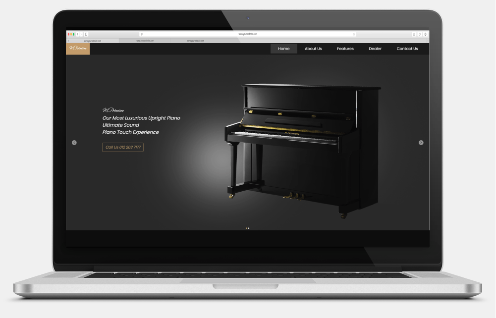 T & C Piano Enterprise Desktop View