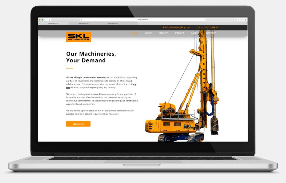 SKL Piling & Construction Sdn. Bhd. Desktop View