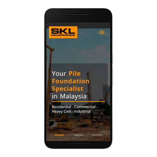 SKL Piling & Construction Sdn. Bhd. Mobile View