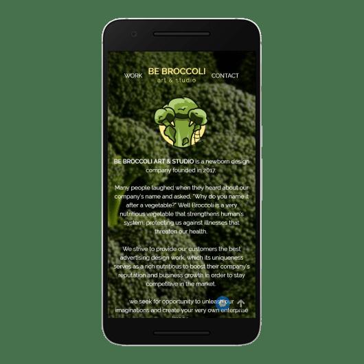 Be Broccoli Art & Studio Mobile View